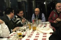 Tavolata dei Soci con Presidente. Da Sinistra: Giuseppe,Sandro IK2ULM, IK2MPR, Giorgio IZ1EZN (DAE Telecomunicazioni)