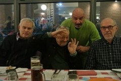 Rappresentanza del Gruppo ATV da sinistra Carlo IW2FYT, Roberto I2ROM, Marco IK2CMI, Tonino IK2MAI